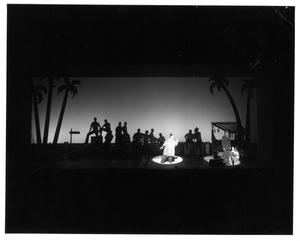Primary view of object titled '[Bloody Mary Sings to the Sailors at the Pier in South Pacific Musical #2]'.