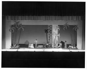 Primary view of [Jerome and Ngona Brought Before Nellie and Emile in South Pacific Musical]