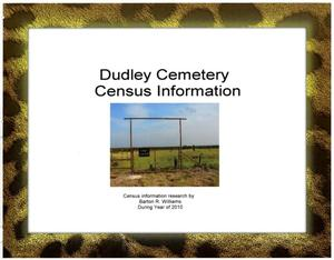 Primary view of [Dudley Cemetery Census Information]
