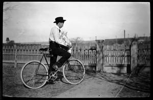 [Thomas H. Taylor on Bicycle]