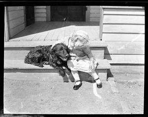 [Little Girl with Dog]