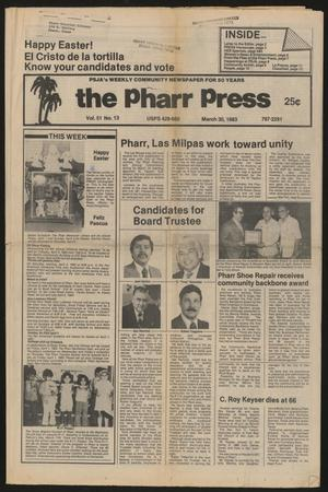 Primary view of object titled 'The Pharr Press (Pharr, Tex.), Vol. 51, No. 13, Ed. 1 Thursday, March 31, 1983'.