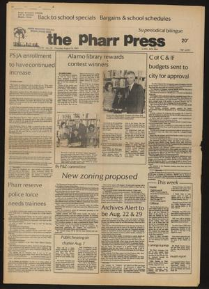 Primary view of object titled 'The Pharr Press (Pharr, Tex.), Vol. 49, No. 29, Ed. 1 Thursday, August 13, 1981'.