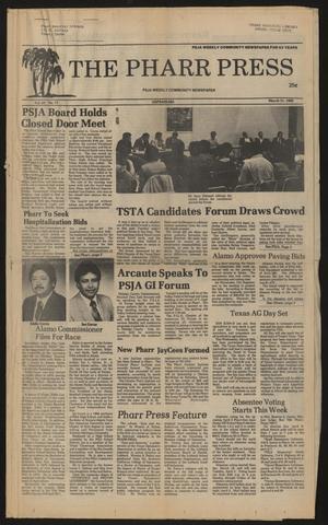 The Pharr Press (Pharr, Tex.), Vol. 63, No. 12, Ed. 1 Thursday, March 21, 1985