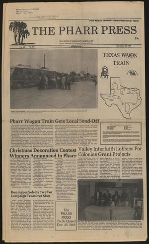 Primary view of object titled 'The Pharr Press (Pharr, Tex.), Vol. 63, No. 52, Ed. 1 Thursday, December 26, 1985'.