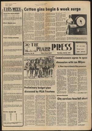 Primary view of object titled 'The Pharr Press (Pharr, Tex.), Vol. 46, No. 30, Ed. 1 Thursday, July 26, 1979'.