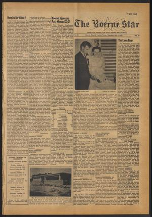 Primary view of object titled 'The Boerne Star (Boerne, Tex.), Vol. 53, No. 44, Ed. 1 Thursday, October 9, 1958'.
