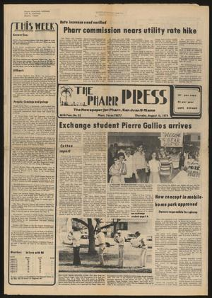 Primary view of object titled 'The Pharr Press (Pharr, Tex.), Vol. 46, No. 33, Ed. 1 Thursday, August 16, 1979'.