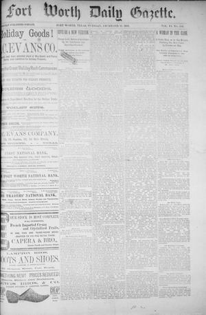 Fort Worth Daily Gazette. (Fort Worth, Tex.), Vol. 11, No. 140, Ed. 1, Tuesday, December 15, 1885