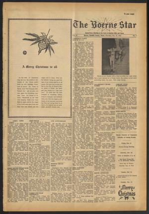 Primary view of object titled 'The Boerne Star (Boerne, Tex.), Vol. 58, No. 3, Ed. 1 Thursday, December 20, 1962'.