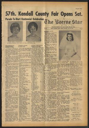 Primary view of object titled 'The Boerne Star (Boerne, Tex.), Vol. 57, No. 39, Ed. 1 Thursday, August 30, 1962'.