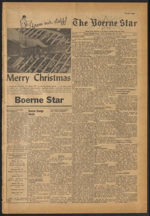 Primary view of object titled 'The Boerne Star (Boerne, Tex.), Vol. 54, No. 3, Ed. 1 Thursday, December 25, 1958'.
