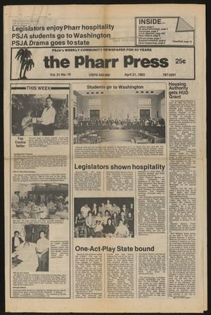 Primary view of object titled 'The Pharr Press (Pharr, Tex.), Vol. 51, No. 16, Ed. 1 Thursday, April 21, 1983'.