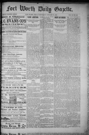 Primary view of Fort Worth Daily Gazette. (Fort Worth, Tex.), Vol. 11, No. 183, Ed. 1, Wednesday, January 27, 1886
