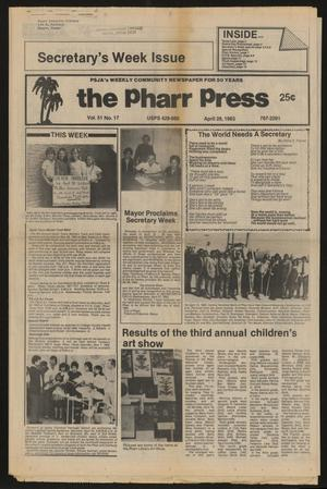 Primary view of object titled 'The Pharr Press (Pharr, Tex.), Vol. 51, No. 17, Ed. 1 Thursday, April 28, 1983'.