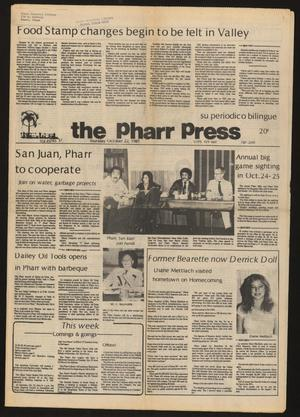 Primary view of object titled 'The Pharr Press (Pharr, Tex.), Vol. 49, No. 38, Ed. 1 Thursday, October 22, 1981'.