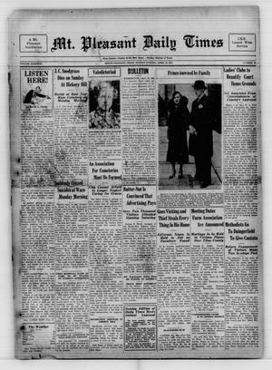 Mt. Pleasant Daily Times (Mount Pleasant, Tex.), Vol. 18, No. 26, Ed. 1 Monday, April 12, 1937