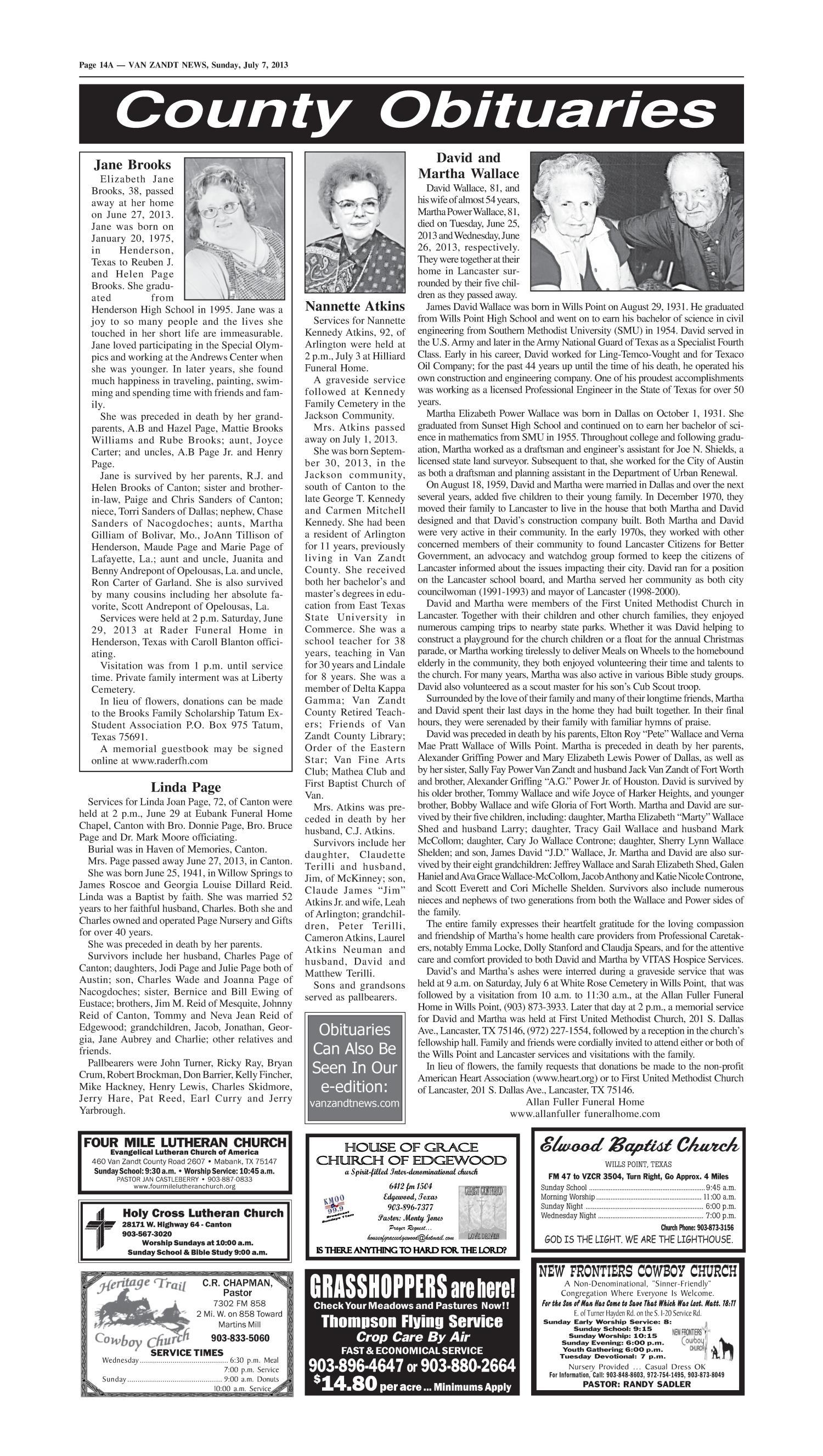 Van Zandt News (Wills Point, Tex ), Vol  33, No  9, Ed  1