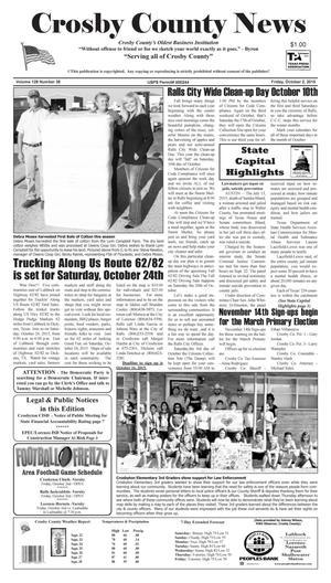 Crosby County News (Ralls, Tex.), Vol. 128, No. 38, Ed. 1 Friday, October 2, 2015