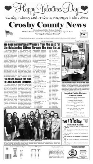 Primary view of object titled 'Crosby County News (Ralls, Tex.), Vol. 130, No. 6, Ed. 1 Friday, February 10, 2017'.