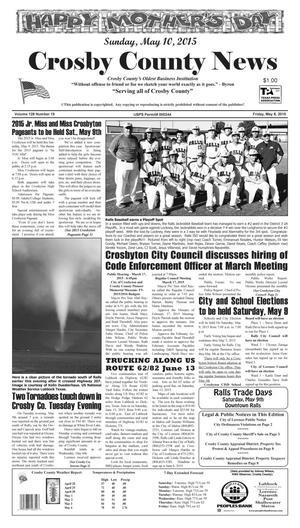 Crosby County News (Ralls, Tex.), Vol. 128, No. 19, Ed. 1 Friday, May 8, 2015