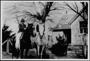 Primary view of object titled '[Hilda Linke and unknown girl on horses]'.