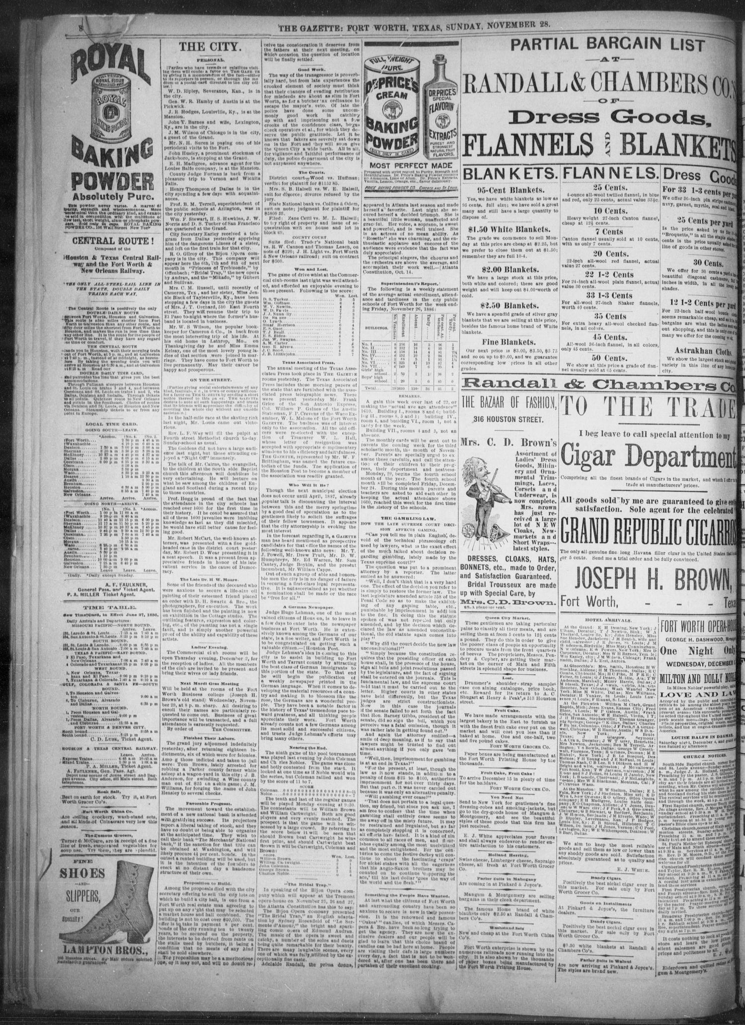 Fort Worth Daily Gazette Fort Worth Tex Vol 12 No 121 Ed