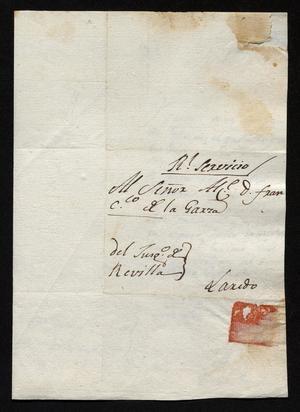 Primary view of [Notice from José Antonio Benites to José Francisco de la Garza, December 9, 1818]