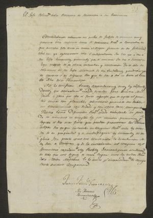 Primary view of [Message from Juan Francisco Gutiérrez]