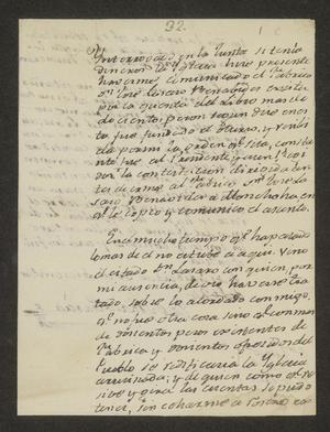 Primary view of object titled '[Letter from José María García to the Laredo Alcalde, December 30, 1824]'.