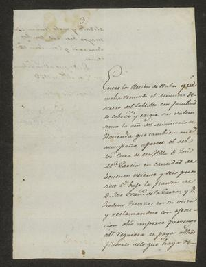 Primary view of object titled '[Request from Juan Echeandía to the Laredo Alcalde, April 7, 1823]'.