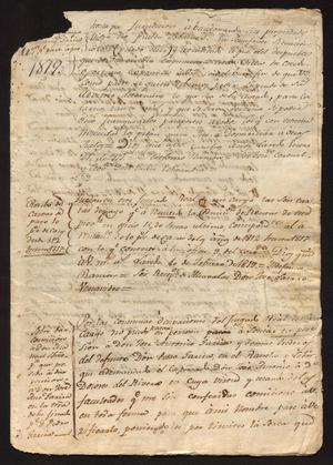 Primary view of [Correspondence between Ildefonso Ramón and Juan Echeandía]