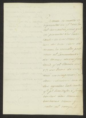 Primary view of object titled '[Letter from Joaquín de Arredondo to a Laredo Alcalde, August 31, 1815]'.