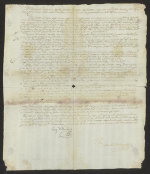 Primary view of [Message Concerning Taxes from Joaquín de Arredondo]