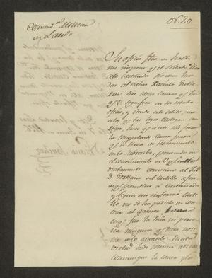 Primary view of [Letter from Nicasio Sánchez to the Laredo Alcalde, June 7, 1826]