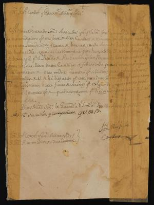 Primary view of object titled '[Letter from Joseph Miguel de Cuellar to the Governor, August 11, 1812]'.