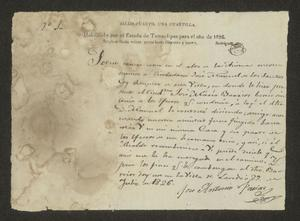 Primary view of object titled '[Statement from José Antonio Farías]'.