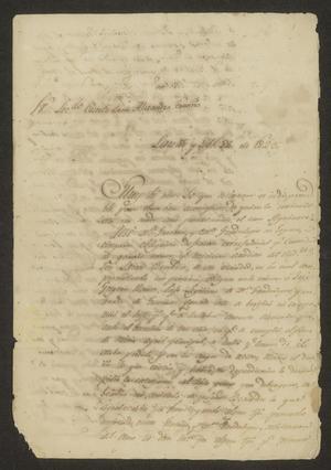 Primary view of [Appeals from Fernando García Dávila]