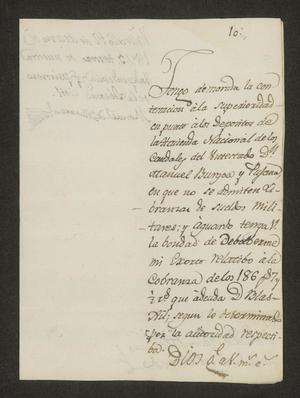 Primary view of object titled '[Letter from Manuel de Villarreal to the Laredo Alcalde, March 12, 1823]'.