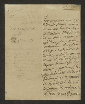 Primary view of object titled '[Letter from José Gregario de Ibarra to the Laredo Alcalde, February 21, 1826]'.