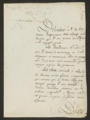 Primary view of object titled '[Message from Juan Echeandía to José María Tovar, September 5, 1815]'.