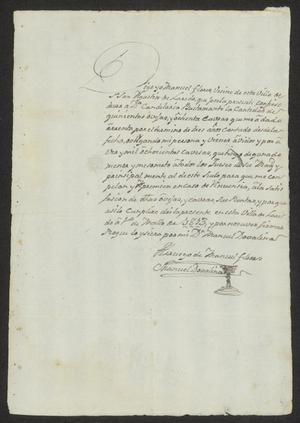 Primary view of object titled '[Promissory Note from Manuel Flores]'.