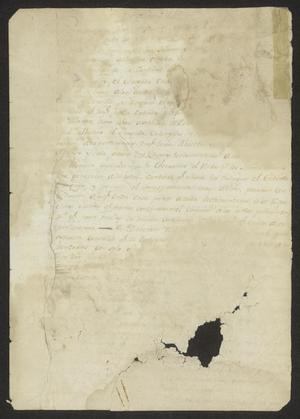 Primary view of [Document Referring to the Cortes in Cádiz]