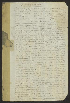 Primary view of [Document Concerning the Constitution of 1812 from Cádiz]