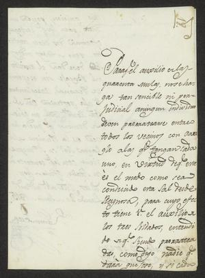 Primary view of [Message from Ramón Perea to José María Tovar, June 20, 1815]