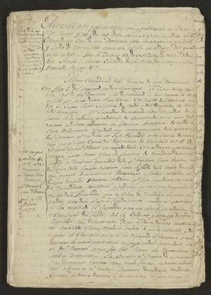 Primary view of [Documents Concerning Affairs in New Spain]