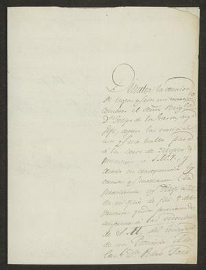 Primary view of object titled '[Letter from Gaspar López to the Laredo Ayuntamiento, October 16, 1822]'.