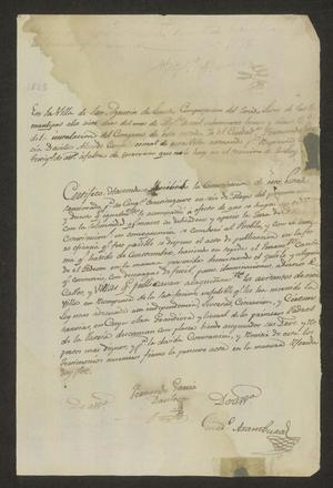 Primary view of object titled '[Statement of Compliance from Fernando García Dávila]'.
