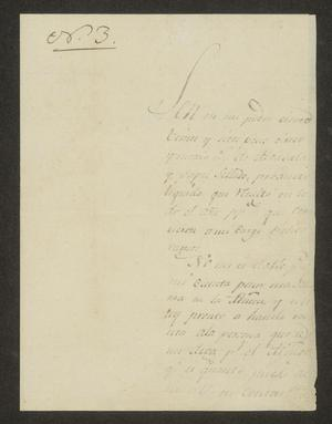 Primary view of object titled '[Letter from Ildefonso Ramón to the Laredo Alcalde, July 22, 1826]'.
