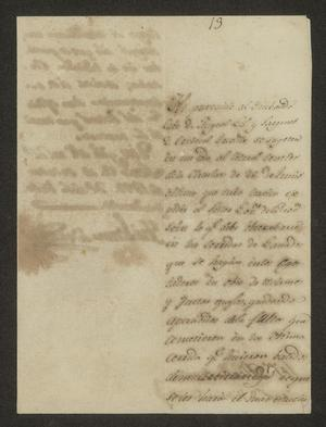 Primary view of object titled '[Letter from José Lázaro Benavides to the Mayor, October 12, 1822]'.